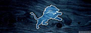 Detroit Lions Wooden Logo Facebook cover photo