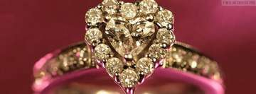 Diamond Engagement Ring Facebook Wall Image