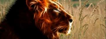 Digitally Reworked Lion Facebook Cover