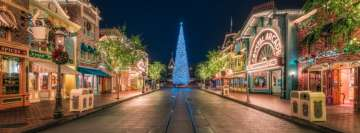 Disneyland at Christmastime Facebook Cover