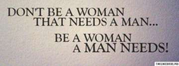 Dont be a Woman Facebook cover photo