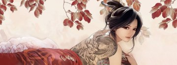 Dragons Artwork Tattoo Facebook cover photo