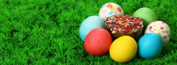 Easter Cup Cake Eggs Facebook Cover Photo