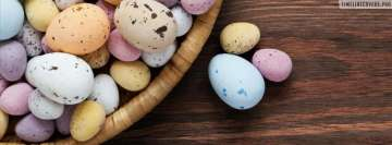 Easter Eggs Speckled in Basket Facebook cover photo