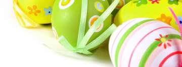 Easter Eggs with Ribbons Facebook Banner