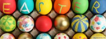 Easter Letters on Eggs Facebook Banner
