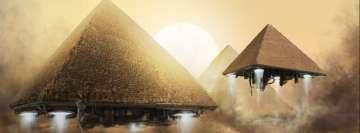 Egyptian Pyramids Sci Fi Facebook cover photo