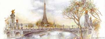 Eiffel Tower Drawing Facebook Banner