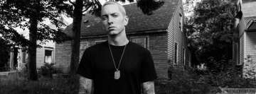 Eminem Black and White Facebook Background TimeLine Cover
