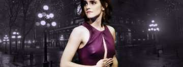 Emma Watson in Purple Facebook Wall Image