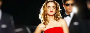 Emma Watson in Red Facebook Cover Photo