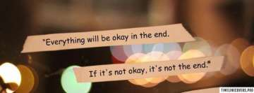Everything Will be Okay Lights Facebook Cover-ups