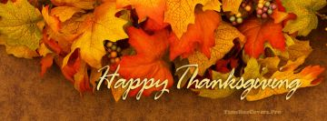Fall Leafs Thanksgiving Happy Facebook Wall Image
