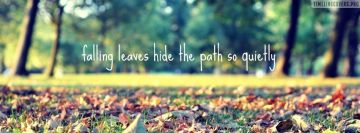 Falling Leaves Quote Facebook Cover