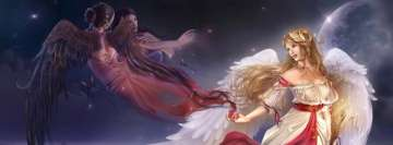 Fantasy Angel Magic Facebook Wall Image