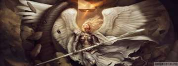 Fantasy Angel Warrior Facebook Cover Photo
