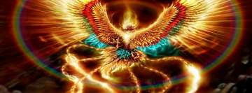 Fantasy Colorful Phoenix Facebook Background