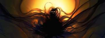 Fantasy Dark Spirit in Mask Facebook cover photo