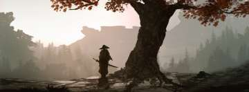 Fantasy Samurai with Landscape Facebook Cover Photo