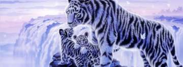 Fantasy White Tiger and Her Cubs