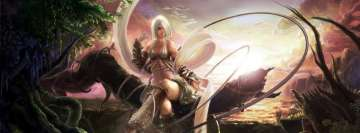 Fantasy Woman Resting in a Forest Facebook Cover Photo