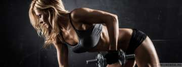 Fitness Girl Facebook Background