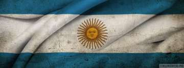Flag of Argentina Facebook Wall Image