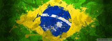Flag of Brazil Painting Fb Cover