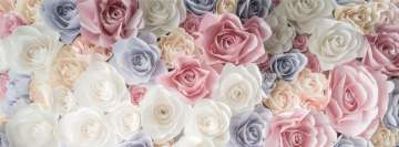 Flowers Pastel Roses Facebook cover photo