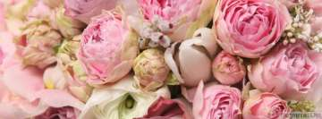 Flowers Roses and Peonies Facebook Cover