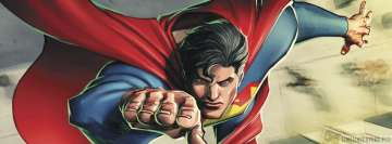 Flying Superman Drawing Facebook cover photo