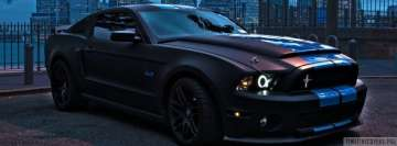 Ford Mustang in Night Facebook cover photo
