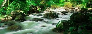 Forest River Running Fast Facebook Background TimeLine Cover