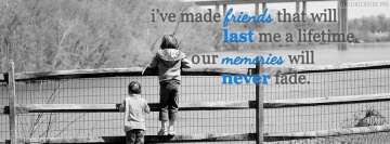 Friends and Memories Facebook Wall Image