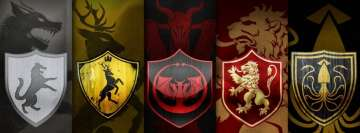 Game of Thrones 5 Clans Facebook Background
