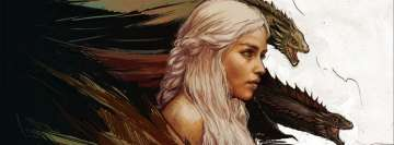 Game of Thrones Daenerys Targaryen Facebook cover photo