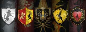 Game of Thrones Houses on Shields