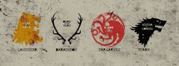 Game of Thrones Lannister Baratheon Targaryen Stark Houses Facebook Banner