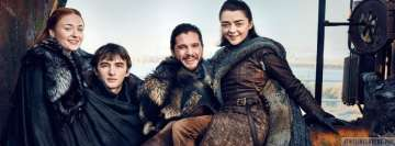 Game of Thrones Starks Having Fun Facebook Cover