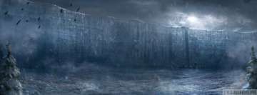 Game of Thrones Wall of Ice Facebook cover photo