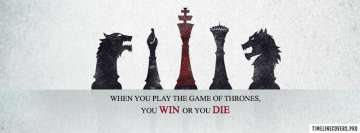 Game of Thrones Quote You Win Or Facebook Cover