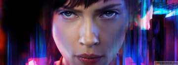 Ghost in The Shell Close Up Facebook cover photo