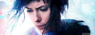 Ghost in The Shell Scarlett Johansson Close Up Facebook cover photo