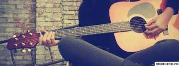 Girl Playing on Guitar Photography Facebook cover photo