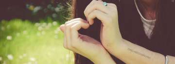 Girl Hand Heart Facebook Banner