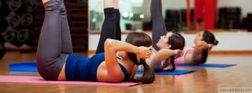 Girls Doing Fitness Facebook cover photo
