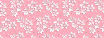 Girly Floral Texture Facebook Wall Image