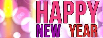 Girly Happy New Year Facebook Cover