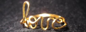Gold Love Ring Fb Cover