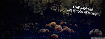 Gone Haunting Halloween Facebook Background TimeLine Cover